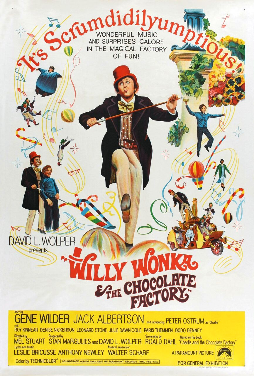Willy Wonka and the Chocolate Factory Movie Poster (Click for full image) |  Best Movie Posters